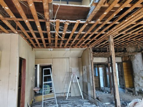 木造建屋の解体